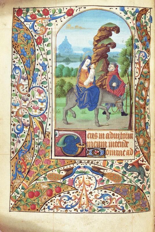 Flight into Egypt (folio 96v)
