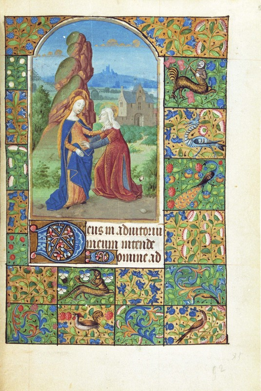 Lauds, The Visitation, fol. 55r