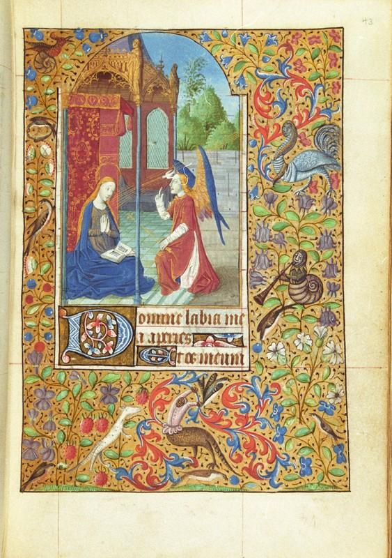 Matins, The Annunciation, fol. 43r