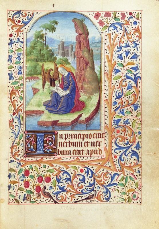 Gospels Lessons; St. John on Patmos, fol. 16