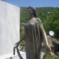 Ligiades Martyr Monument Frestanding Bronze Front.JPG